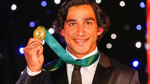 He won a record fourth Dally M medal this year. (9NEWS)