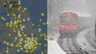 UK snow disrupts road, rail and air travel for holiday-takers