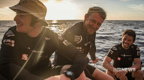 The sailor fell overboard during the 7th leg of the gruelling Volvo Ocean Race on Monday and has been 'presumed dead'. Picture: 9NEWS.