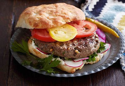 "<a href=""http://kitchen.nine.com.au/2016/05/05/13/24/spiced-lamb-and-pine-nut-burgers-with-tahini-yoghurt"" target=""_top"">Spiced lamb and pine nut burgers with tahini yogurt<br> </a>"