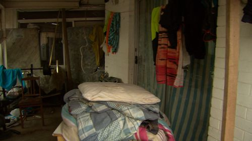 The pair had been squatting in a St Albans home. Picture: 9NEWS