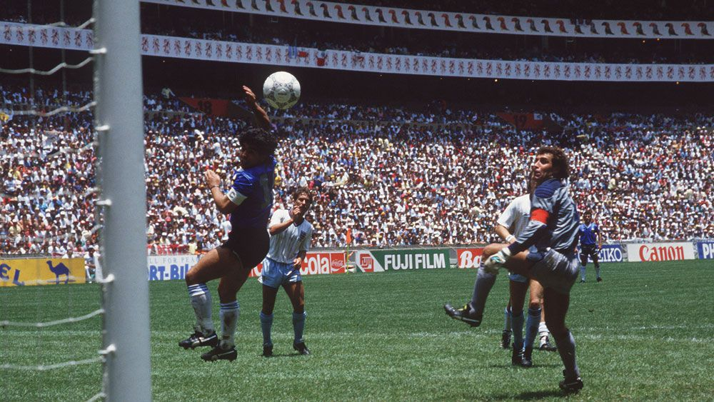 Diego Maradona has backed the use of video referees to stop the next 'Hand of God'
