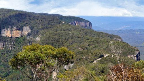 A group of walkers has been rescued from a remote Blue Mountains trail after a woman injured her leg.