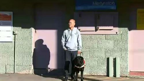 Mr Luc attempted to board the train from the safety area, designed for people with disabilities. (9NEWS)