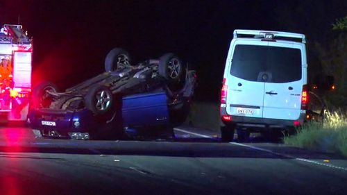 The teen had crashed his car but managed to free himself and was standing on the side of the road when he was struck by the van. (9News)