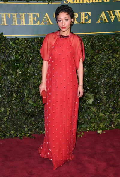 Ruth Negga in Valentino at the London Evening Standard Theatre Awards.