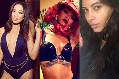 From bikini romps to makeup-free selfies and adorable throwbacks, our fave celebs continue to share their insane lives with us via social media. <br/><br/>Take a look at some of the week's best Instagram snaps care of RiRi, Kim K, Jess Gomes and more!