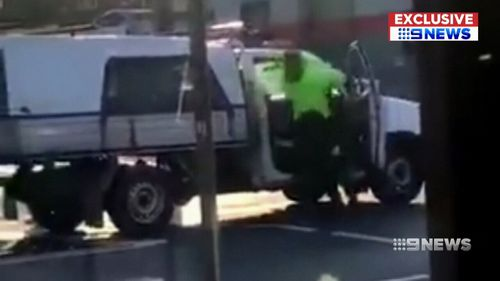 A road rage attack has been caught on camera in Sydney's south-west.