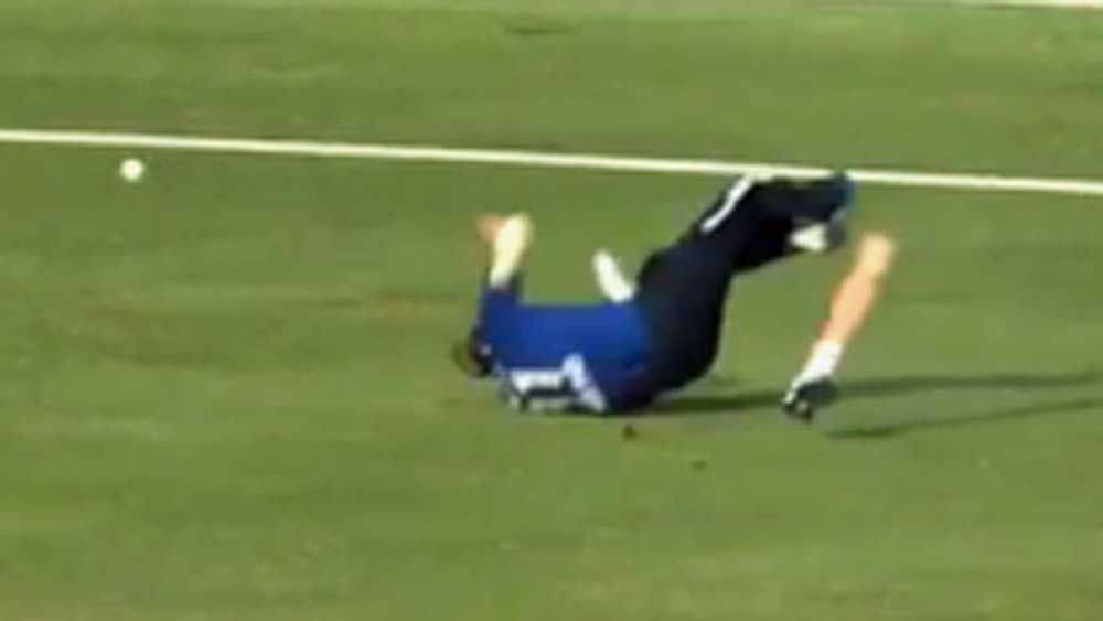 Cricket: Player chases down ball after losing artificial leg