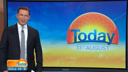 Karl Stefanovic was left speechless after seeing video of a 4.5 metre Great White Shark