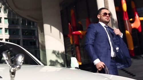 """My advice is to never ever let go of your dreams,"" Mr Mehajer wrote on Facebook with the video. (Facebook)"