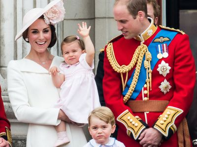 """Trooping the Colour: Princess Charlotte follows suit<span style=""""white-space:pre;""""></span>"""