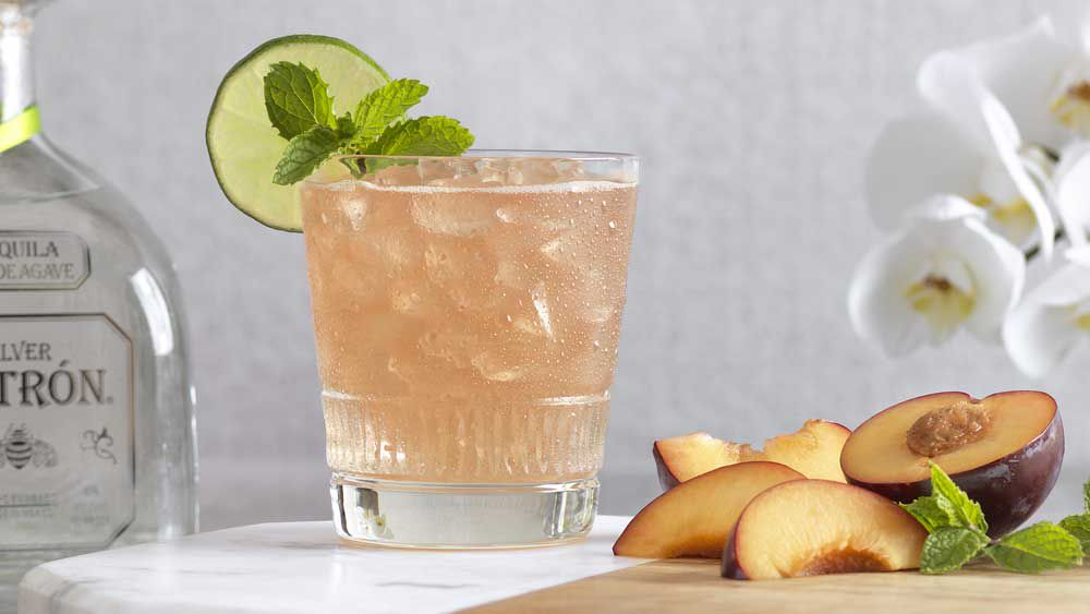 Salted plum cocktail