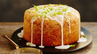 "Recipe: <a href=""https://kitchen.nine.com.au/2017/11/24/14/33/josephines-angel-cake-with-lime-glaze"" target=""_top"">Josephine&rsquo;s angel cake with lime glaze</a>"