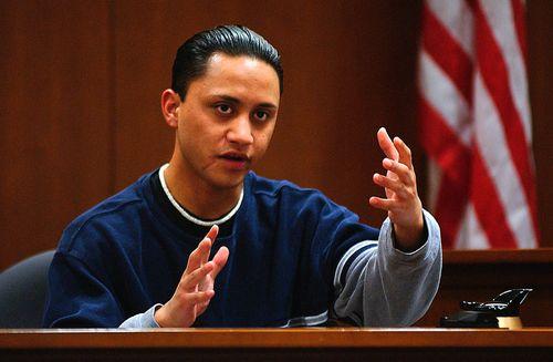Vili Fualaau testifies in 2002. Picture: AAP