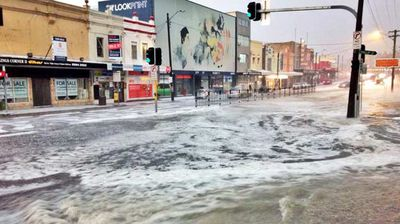 Parramatta Road resembling a river. Photo: Aaron Smith/@the_aaron_smith