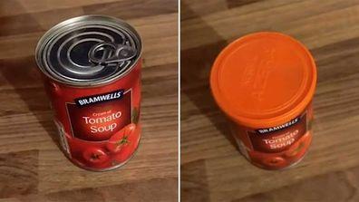 Canned food fridge hack