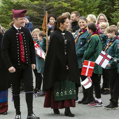 Crown Prince Frederik and Crown Princess Mary greet locals August 25, 2018