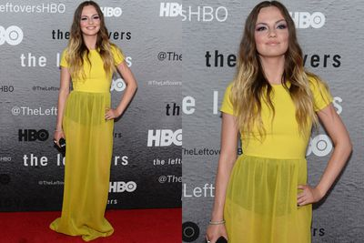 We can see your undies! <i>The Leftovers</i> babe Emily Meade sizzles in a sheer frock on the red carpet.