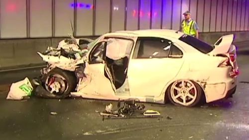 The results of the car crash. (9NEWS)