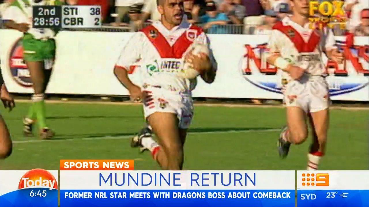 Mundine planning shock return to NRL