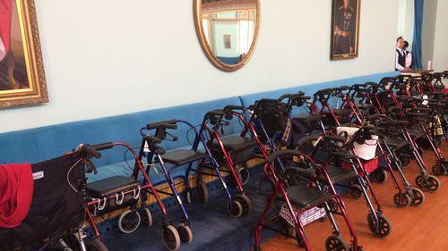 Valet parking at Government House. (Madeline Slattery)