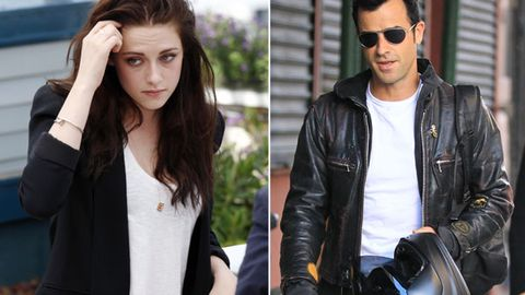 Report: Kristen Stewart caught 'flirting it up' with Jennifer Aniston's fiancé Justin Theroux