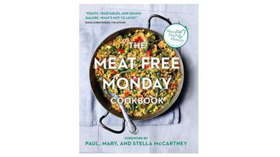 "<a href=""http://www.kylebooks.com/page/detail/The-Meat-Free-Monday-Cookbook/?K=e201607061214296275"" target=""_top"">The Meat Free Monday cookbook - A full menu for every Monday of the year</a><br> By Paul, Stella & Mary McCartney<br> Kyle Books, AU $35.00"