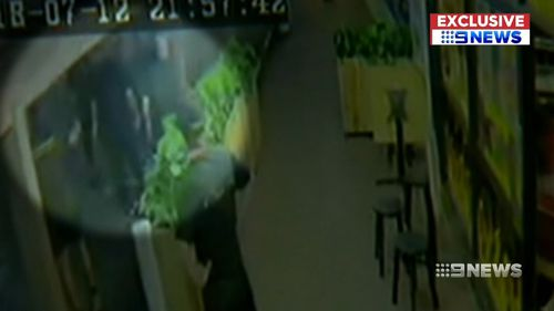 The incident was captured on CCTV. Picture: 9NEWS