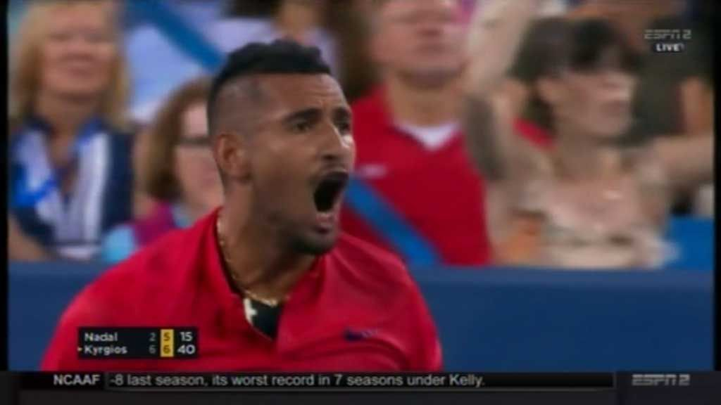Kyrgios advances at Cincinnati
