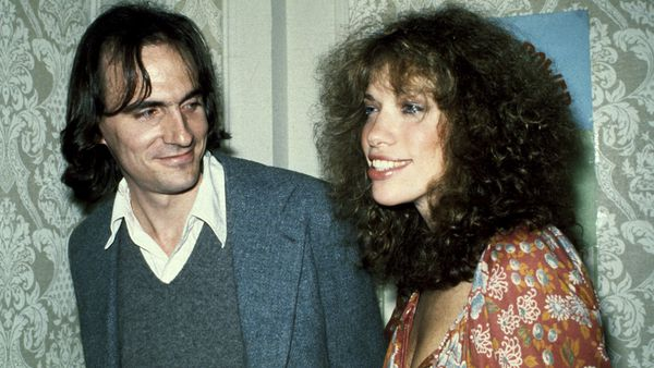 James Taylor and Carly Simon during their marriage