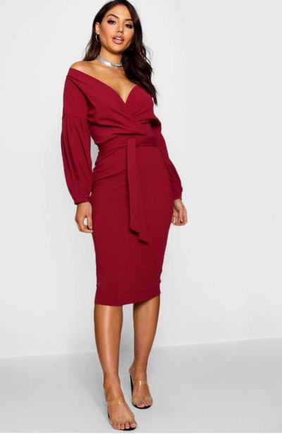 Honour the festive season in a berry-coloured garment that is both festive and fashionable