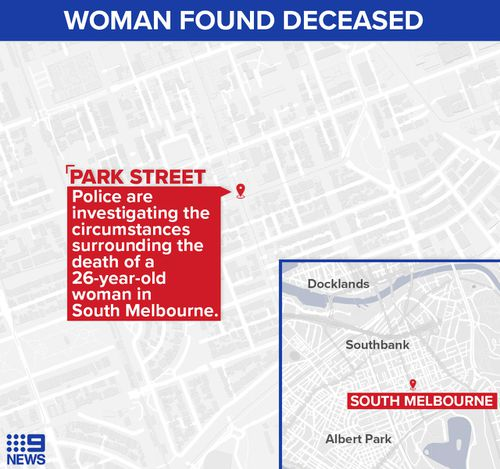 The body of a woman has been found in South Melbourne on Monday, May 4.