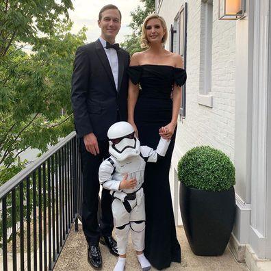 Ivanka Turmp, Jared Kushner, son Theodore, Star Wars costume
