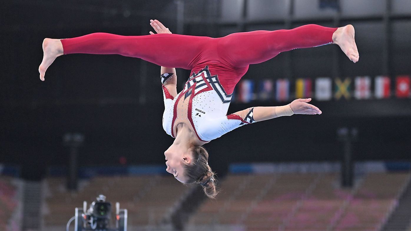 Pauline Schäfer from Germany in action.