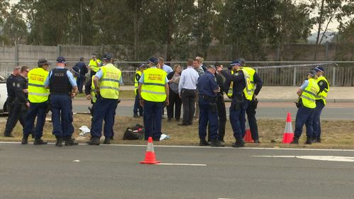 A loaded gun was allegedly found inside the Holden ute.