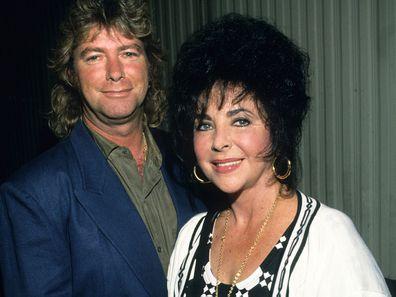 Elizabeth Taylor with Larry Fortensky