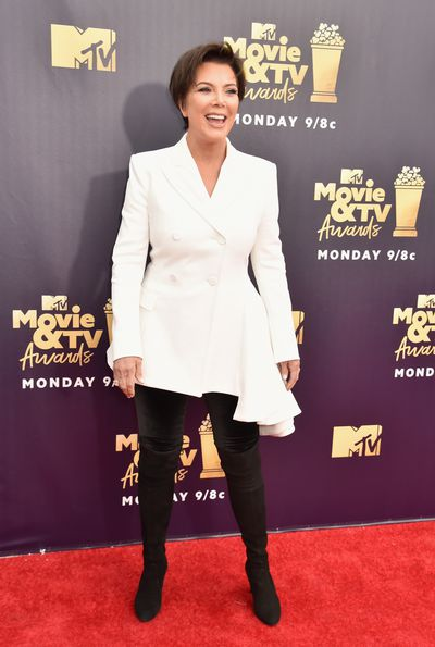 <em>Keeping up with the Kardashian's</em> Kris Jenner in Off-White at the 2018 MTV Movie and TV Awards
