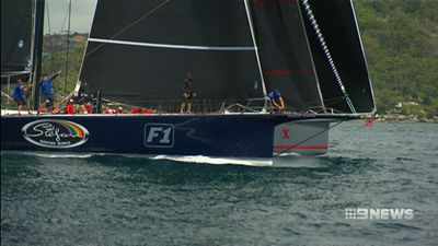 Supermaxis Wild Oats XI and Black Jack share line honours spoils