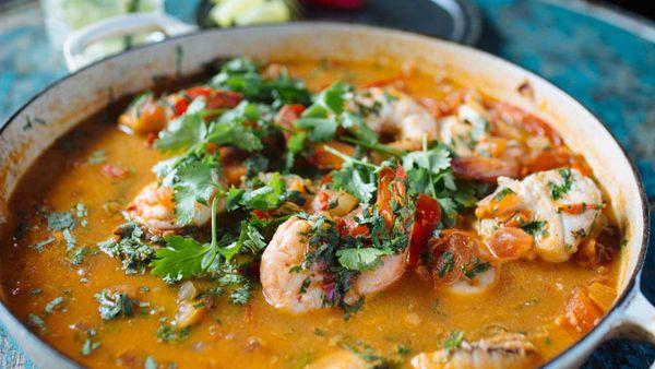 Adam Liaw's mocqueca (Brazilian fish stew)