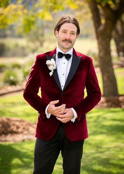Brett's wedding suit jacket