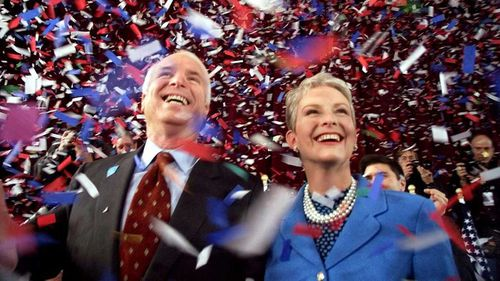 John and Cindy McCain during his first presidential run in 2000.