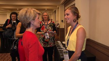The teenager said meeting Ms Bishop was one of the greatest moments of her life.