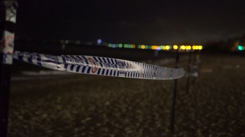 The beach was closed after the sighting.