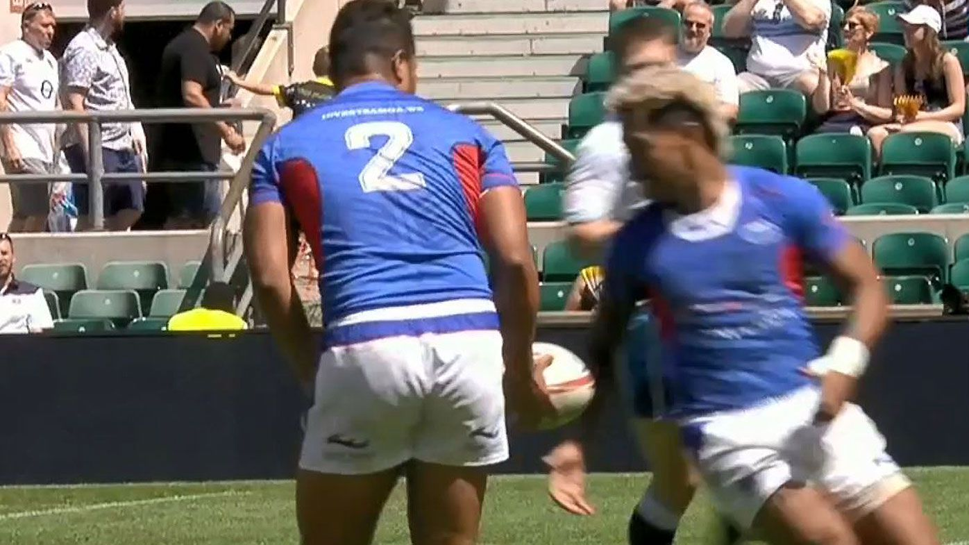 Cocky try backfires for Samoa after brain-fade in Rugby Sevens