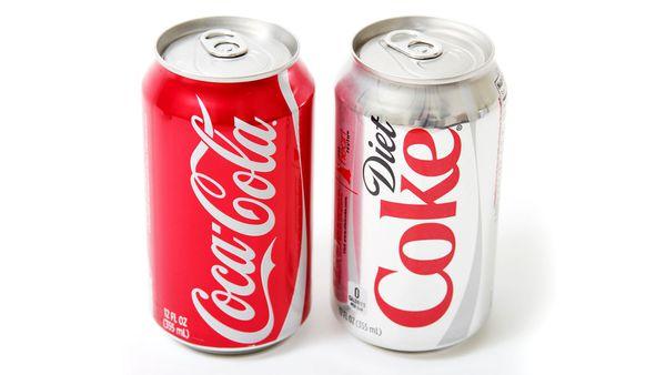 Coca-Cola and Diet Coke