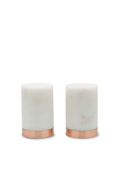 "Argus salt and pepper shakers $59.95, <a href=""https://www.countryroad.com.au/shop/home"" target=""_blank"">Country Road</a>"