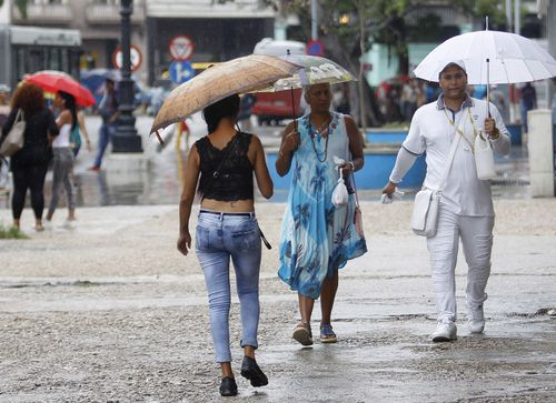 The Cuban capital Havana received a deluge of rain from the storm when it crossed the island nation.