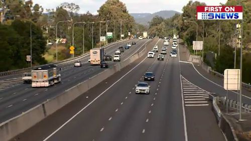 The woman was tailgated for kilometres. Picture: 9NEWS