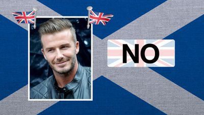 """David Beckham, soccer player: """"What unites us is much greater than what divides us. Let's stay together."""""""